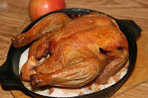 Рецепты курица на соли в духовке